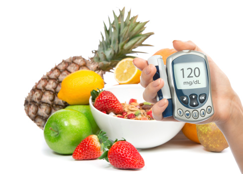blood sugar monitor and food