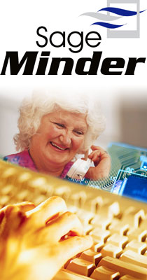 sageminder care call system for reminder and check in services for elderly parents