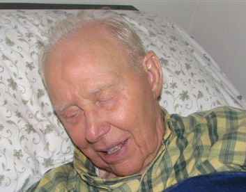 elderly man sleeping