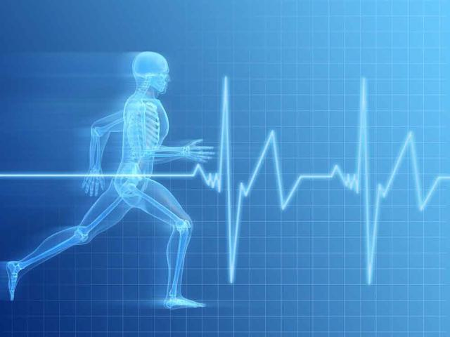 track it, manage, weight, exercise, health, man running through heart beat, good habits, bad habits, blood pressure, weight